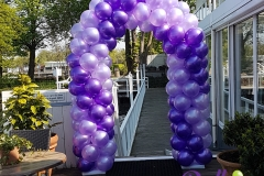 Ballonnenboog ballonboog dubbele spiraal enkele deur Balloon Styling Brabant Tilburg Reeshof