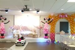 Balloon Styling Minnie Mouse ballonnenboog ballonpilaar ballonnenpilaar ballonpilaar heliumballonnen Brabant Tilburg Reeshof