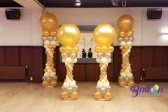 Balloon Styling Romeinse pilaren ballonnenpilaren metallic goud zilver en ivoor4