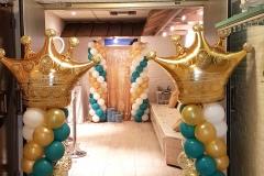 Balloon-Styling-Tilburg-ballonnenpilaar-ballonpilaar-confettiballon-gouden-kroon-25-jaar-verjaardag-ballonnen