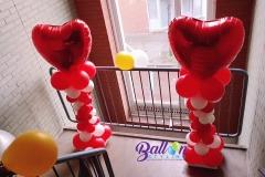 Balloon-Styling-Tilburg-luxe-ballonnenpilaar-ballonpilaar-rode-folieballon-hart-bruiloft-trouwerij-ballonnen-Tilburg