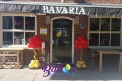 Balloon-Styling-Tilburg-mini-ballonnenpilaar-ballonpilaar-Bistrobar-Strano-Goirle-metallic-goud-rood-en-zwart-ballonnen-Tilburg-1