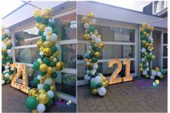 Balloon-Styling-Tilburg-organic-ballonnenslinger-confettiballon-goud-metallic-goud-forest-green-en-wit-verjaardag-ballonnen-Tilburg4-1