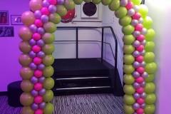 Balloon-Styling-ballonnenboog-ballonboog-40-jaar-verjaardag-lime-groen-fuchsia-en-zilver-2ballonnen-Tilburg-1