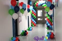 Balloon Styling ballonnenboog ballonboog gronddecoratie vloerdecoratie heliumballonnen Tweesteden ziekenhuis Waalwijk
