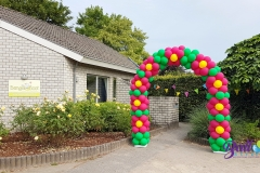 Balloon Styling ballonnenboog ballonboog jubileum viering feest jubileum de Bengelboot Brabant Tilburg Reeshof