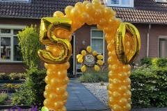 Balloon-Styling-ballonnenboog-ballonboog-metallic-goud-verjaardag-party-cijfer-folieballonnen-gouden-bruiloft-50-jaar-getrouwd-ballonnen-Tilburg