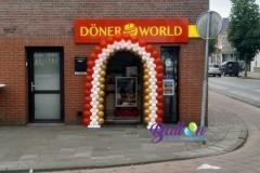 Balloon Styling ballonnenboog ballonboog opening Döner World Brabant Tilburg Reeshof