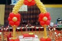 Balloon-Styling-ballonnenboog-ballonboog-rood-en-metallic-goud-ballonnen-Tilburg