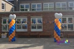 Balloon Styling ballonnendecoratie ballonnenpilaar ballonpilaar topballon hart Brabant Tilburg Reeshof