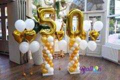 Balloon-Styling-ballonnendecoratie-ballonnenpilaren-ballonnenpilaar-heliumballonnen-gouden-huwelijk-50-jaar-getrouwd-De-Commanderie