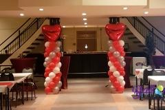 Balloon Styling ballonnenpilaar ballonpilaar met groot rood hart Brabant Tilburg Reeshof