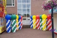 Balloon Styling ballonnenpilaar ballonpilaar met topballon 1 kermis Goirle Brabant Tilburg Reeshof
