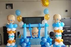 Balloon Styling ballonnenpilaren ballonpilaren ballonnenpilaar ballonpilaar heliumballonnen babyshower tafeldecoratie Tilburg