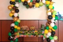 Balloon-Styling-ballonnenslinger-ballonslinger-organic-jungle-thema-verjaardag-palmbladeren-agave-ballonnen-Tilburg