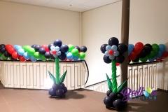 Balloon Styling ballonnenslinger bloemenpilaar Tweesteden ziekenhuis Tilburg