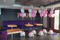 Balloon Styling ballontrossen heliumballonnen entwined hearts met zilveren heliumballon Brabant Tilburg Reeshof