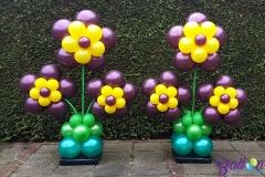 Balloon Styling bloemenpilaren bloempilaren burgundy geel dubbelzijdig Brabant Tilburg Reeshof