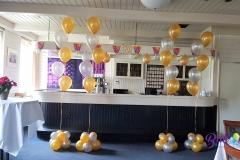 Balloon Styling gronddecoratie metallic goud met metallic zilver Tilburg Reeshof