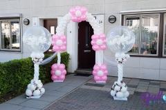 Balloon Styling luxe ballonnenboog ballonboog ballonnenpilaren ballonpilaren love doves met zijden rozen