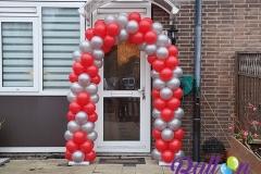 Balloon Styling luxe ballonnenboog ballonboog rood met goud