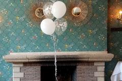 Balloon Styling luxe gronddecoratie heliumballonnen love doves met zijden rozen Brabant Tilburg Reeshof