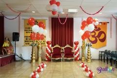 Balloon Styling luxe gronddecoratie rood met wit heliumballonnen Brabant Tilburg Reeshof