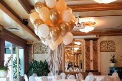 Balloon-Styling-tros-heliumballonnen-wit-chrome-goud-gold-mat-perzik-Tilburg