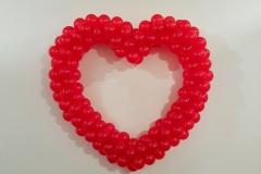 ballonnenhart rood enkel