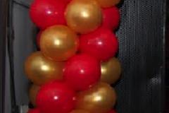 pilaar rood met goud