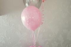 zilver roze tafeldecoratie