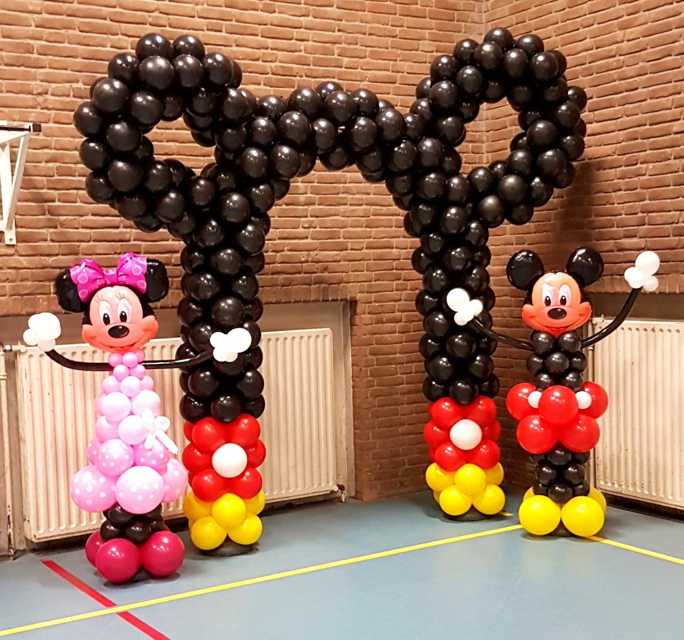 Mickey en Minnie Mouse ballonnenboog