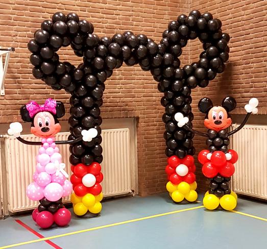 Minnie Mickey Mouse Ballonnenboog Balloon Styling