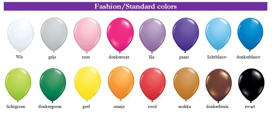 fashion standard colors