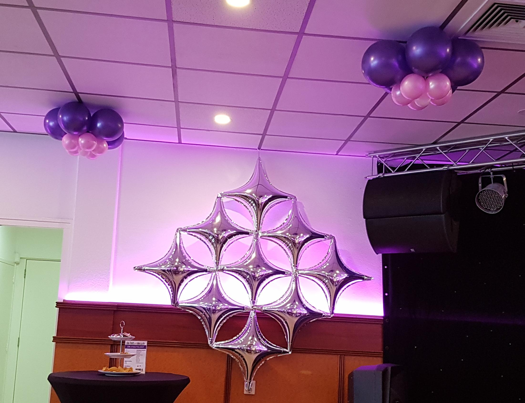 Folieballon ruit ster bloemballon