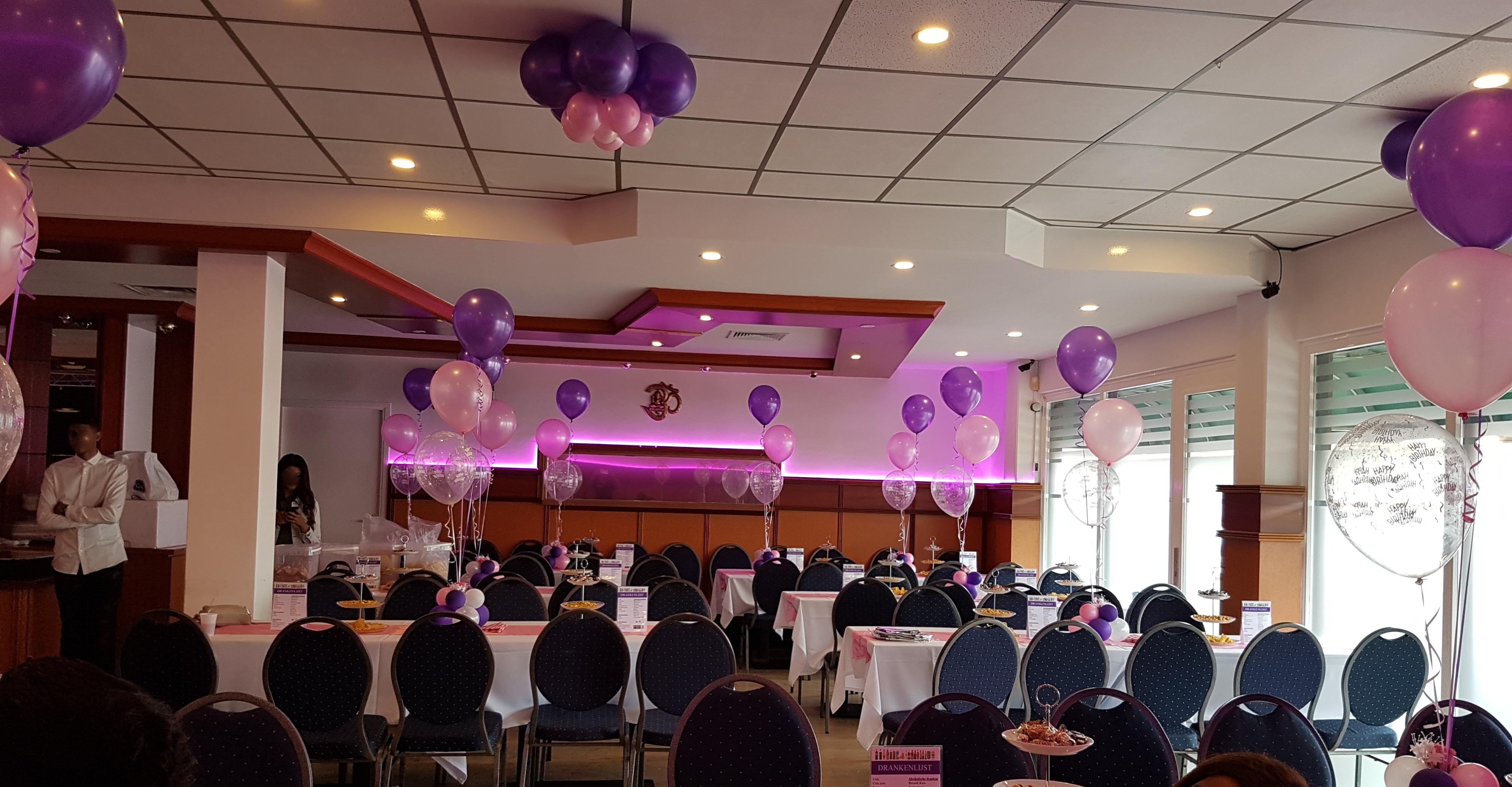 Heliumballonnen ballontrossen gronddecoratie vloerdecoratie tafeldecoratie bloemballon verjaardag Balloon Styling Tilburg
