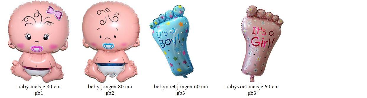 folieballonnen groot baby
