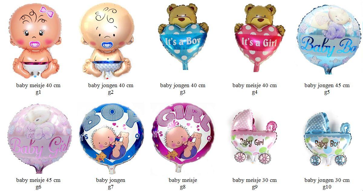 geboorte meisje jongen folieballon1