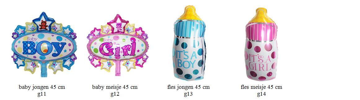 geboorte meisje jongen folieballon2