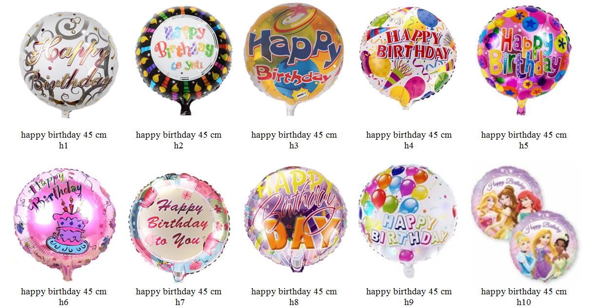 happy birthday folieballon 1