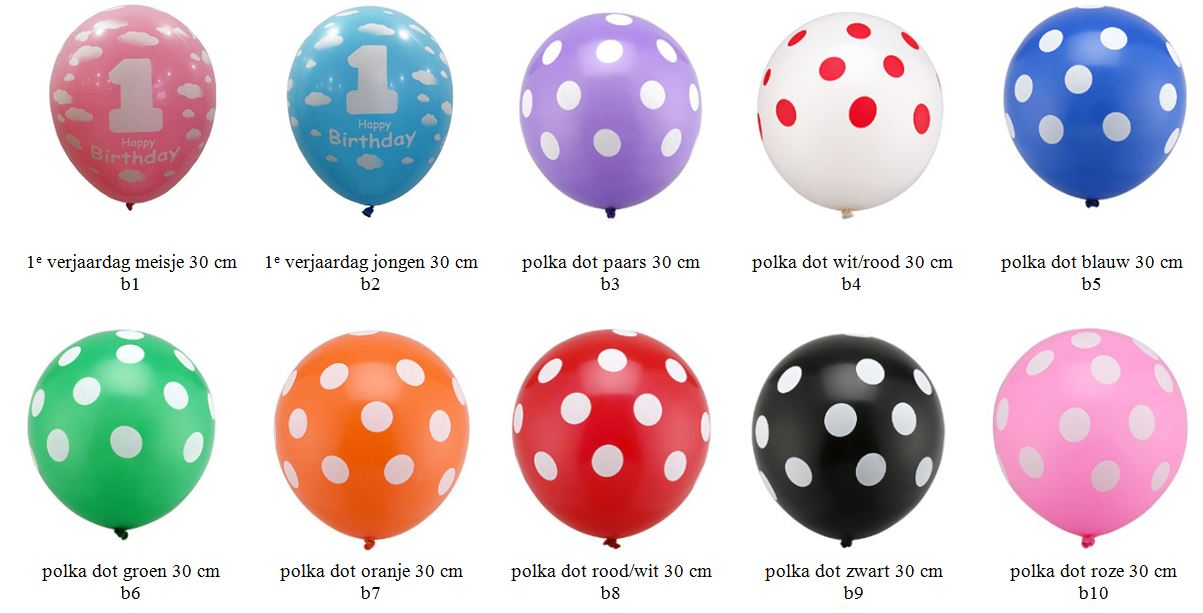 latexballonnen polka dot