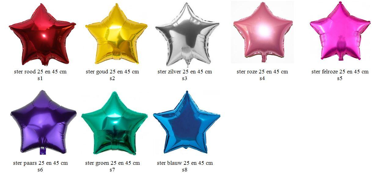 sterren folieballon