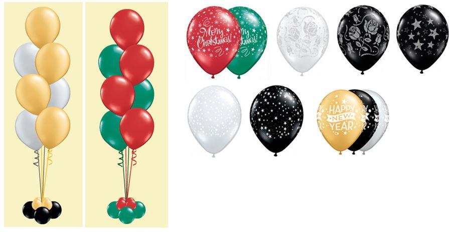 Tafel en gronddecoratie ballonnen kerst en oud en for Ballonnen tafels