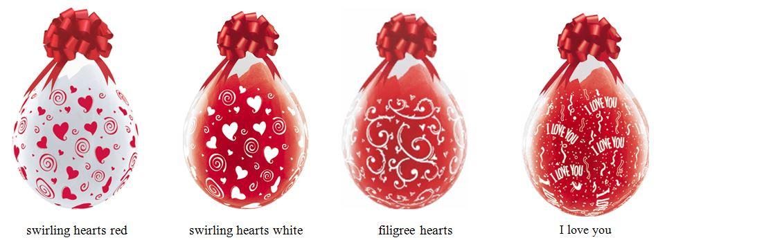 kado in een ballon voor valentijn