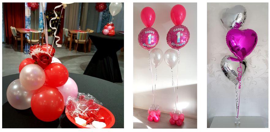Heliumballonnen ballontrossen gronddecoratie vloerdecoratie tafeldecoratie Balloon Styling Tilburg