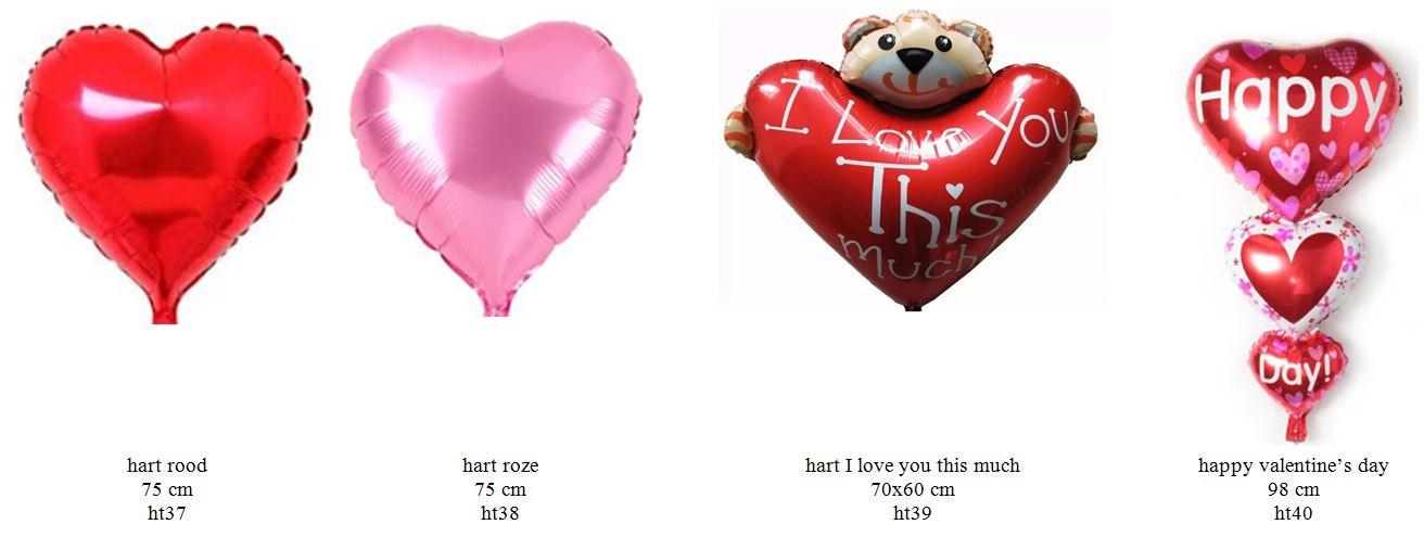 valentijn folieballonnen groot