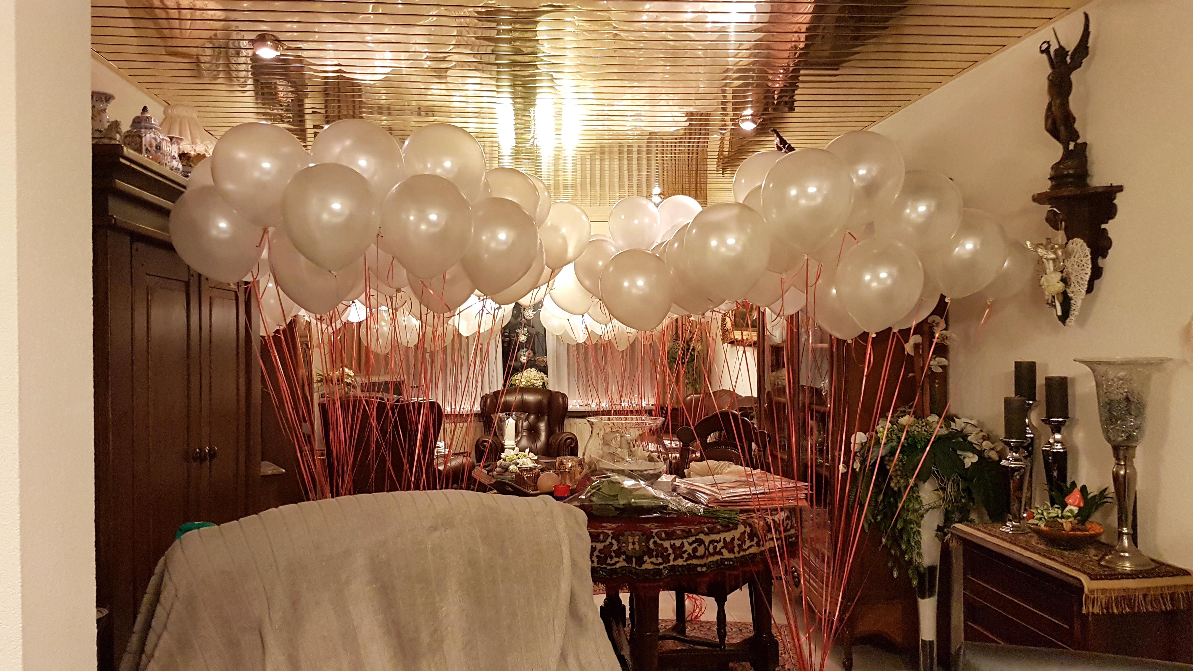 heliumballonnen voor de stille tocht