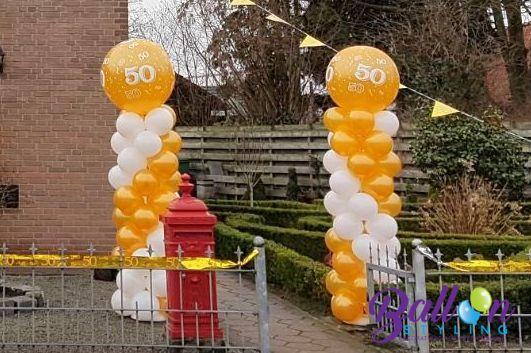 50 jarig huwelijk Dorst ballonnenpilaren