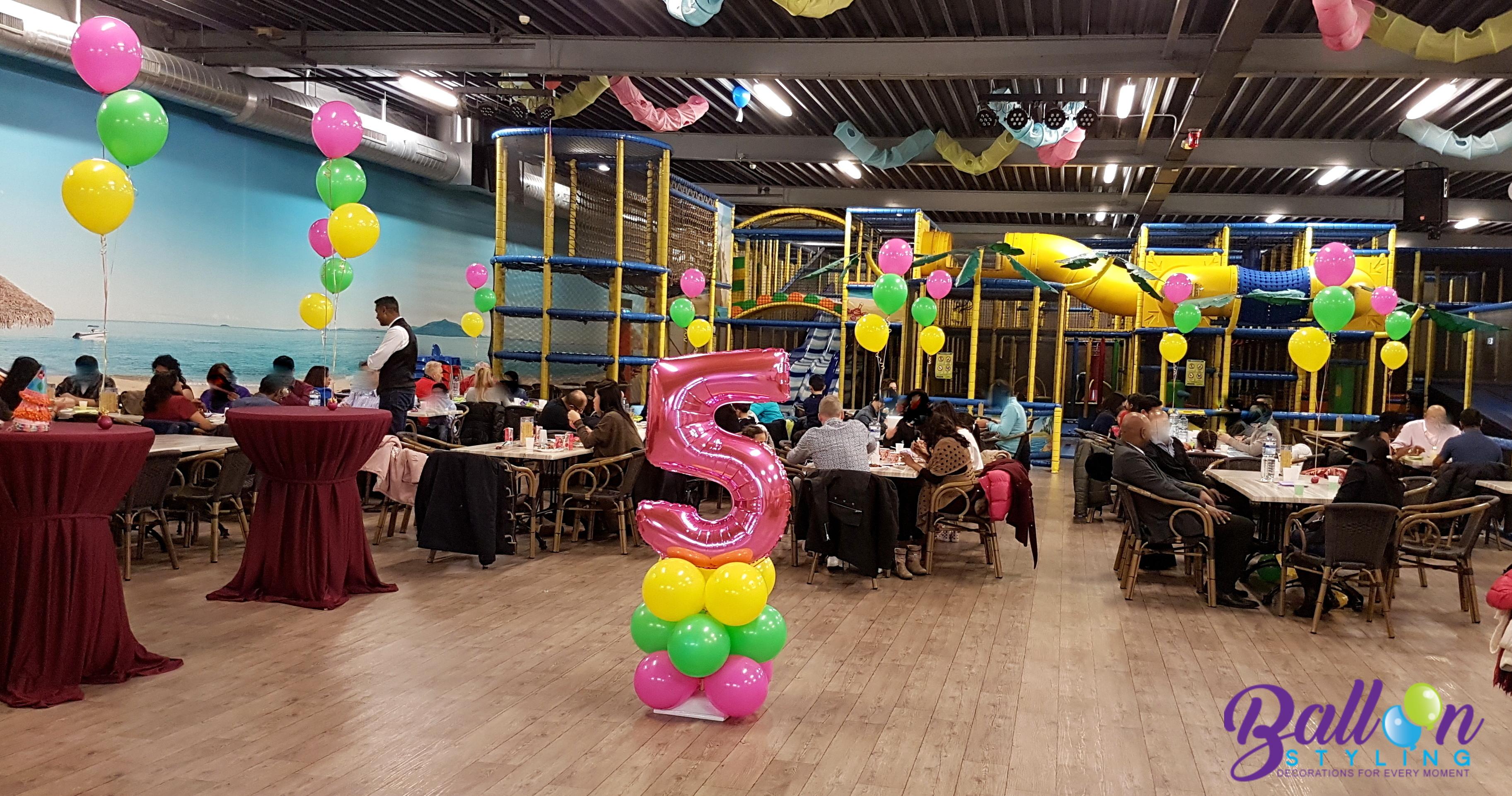 verjaardag Lisa 5 jaar ballonnendecoratie