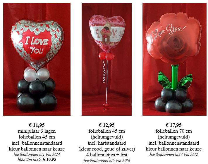 valentijn folieballonnen